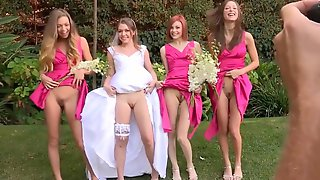 Young Newlywed Goes Lesbi With Her Young Beautiful Bridemaids