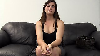 Chloe Spreads Her Legs On A Casting Couch For A Horny Man