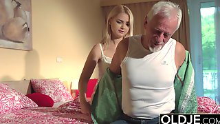 Grandpa Fucks 1 Old Teen Pussy Cums In Her Mouth
