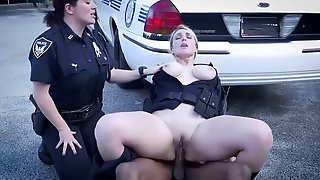 Two Thick Police Chicks Fuck A Black Fella Who Fucked Neighbors Wife