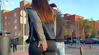 Teen With Nice Butt Wearing Black Leggings