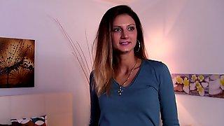 British Nurse Eva Johnson Sucks & Fucks A Stranger For Modelling Contract