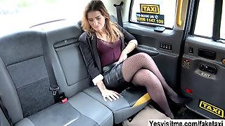 Slutty Lady Adreena Pays Anal Sex To The Pervy Cab Driv
