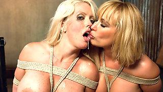 Mellanie Monroe and Alura Jenson have fun