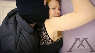 Busty Blonde Enjoys Toying Time In Bed