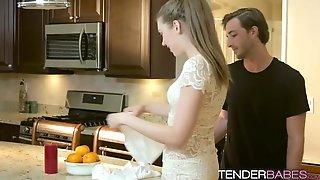 Petite Sexy Babe Elena Koshka Rides Hard Cock In Kitchen
