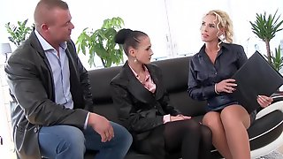 Elegant Business Lady  Get Pissed On For The Business...