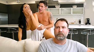 Cheating Wife Sofi Ryan Getting Fucked Standing Up By Husbands Best Friend
