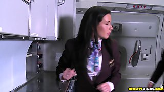 MILF Stewardesses Fucks Naked Boys At The CFNM Secret Double Dose