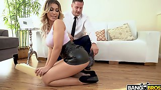 Stunning Blond Haired Personal Secretary Assh Lee Gets Analfucked