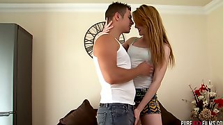 Adorable Red Head Dante White Is Making Love With Her Boyfriend