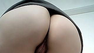 Hairy Dirty Pussy Of A Pale Skin White Chick In The Toilet Room