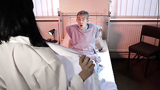 Sexual Addicted Nurse Shows Her Tempting Body Under Medical Uniform