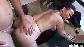 Nina Swiss Gets Her Bush Plowed