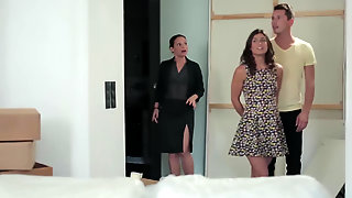 Julia Roca & Her Man Have A Threesome With Sexy Realtor Silvia Lauren