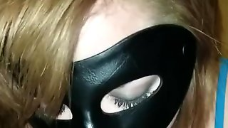 Masked Wife Sucks Husbands Big Cock - With Cum Shot