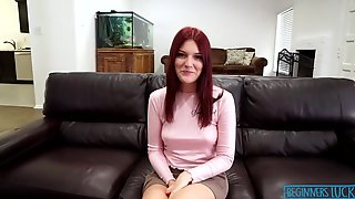 Shy Redhead Babe Jewels Vega Is Nervous Before Big Cock