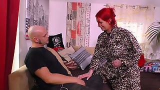 Red Haired Slut With Pierced Body Anica Red Goes Wild On A Hard Dick