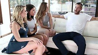 Lusty Brunette Adriana Chechik Has Great Idea To Enjoy FFFM 4some