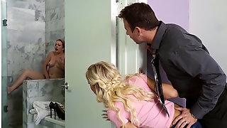 18 Yr Old Blonde Teen Naomi Gives BJ To Her Moms New Boyfrined