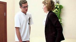 Mature Teacher And Teen Boy