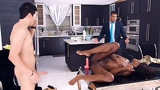 Black Webcam Whore Fucks Real Man At Brazzers Stay-At-Home Slut