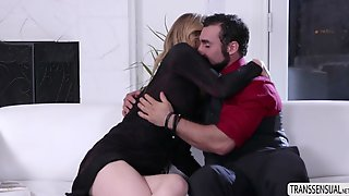 Transgirl Mandy Mitchell Fucks Her Hot Stepson