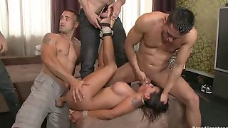 Hot latina gang bang