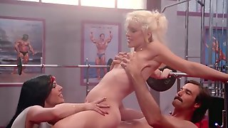 Jaw-Dropping Threesome Sex Scene At The Gym From Rare XXX Movie