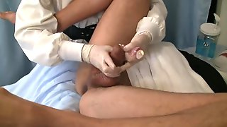 Nurse Milks Patients Prostate With Gloves And Dildo