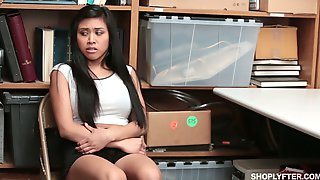 Asian Black Haired Chick Ember Snow Has To Suck Lewd Detectives Dick