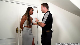 Misty Stone Is Under House Arrest So She Makes The Best