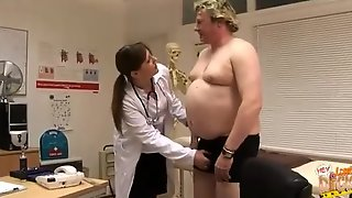 Fat Man With A Small Dick Gets Examined By These Nasty Nurses, They Are So Sexy