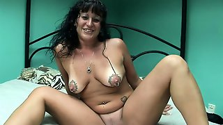 Seductive Milf With Big Boobs Fucks A Dildo And Sucks A Dick
