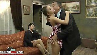 Raunchy Chubby Oldman Has Fun With Two Amazing Women