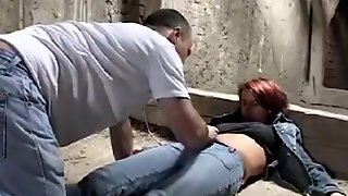 A Girl Gets Tied Up And Roughly Fucked A Stranger In An Abandoned Building
