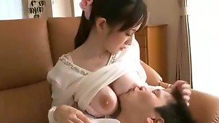 Breastfedding Handjob