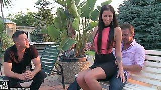 Sensual Slender Teen Loren Minardi Gets Double Penetrated
