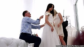 Young Sex Parties - Dress Fitting And A Threeway