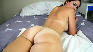 Bodacious Webcam Mom Stripteases And Flaunts Her Sexy Curves