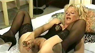 Amateur - Hot Mature Fists Dildos & Bottles - Hubby Films