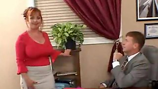 Chubby mature fucked in the office