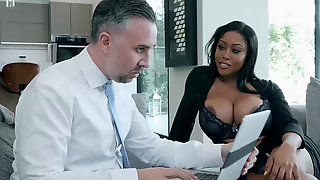 Ebony Moriah Mills Seduces & Fucks The White Canvasser