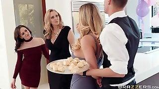 FFM Threesome With 2 Massive Boobed Cougars Julia & Ann Gone Wild