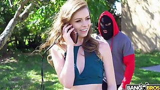 Horny Masked Dude Makes Submissive Pale Hottie Alex Blake Suck His Dick
