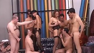 Huge Bisexual Orgy With Trannies Getting Real Fucking Arousing