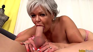 My Wifes Granny Sucks Her First Gigantic Cock In Porn Studio