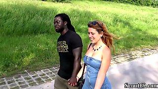 German Redhead Teen Fuck By Monster Black Dick Public Segment