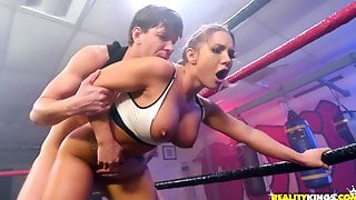 Sport MILF Getting Fucked In All Holes At The Wresling Ring