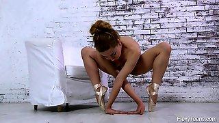Ballerina Strips As She Dances On Point